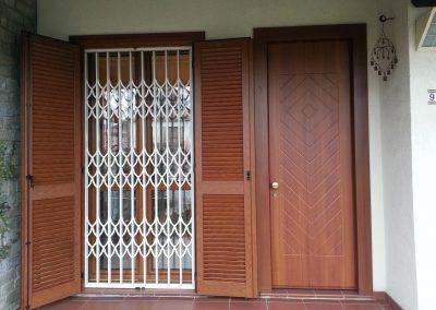 Porta di ingresso, grata e persiane a Fagnano Olona (VA